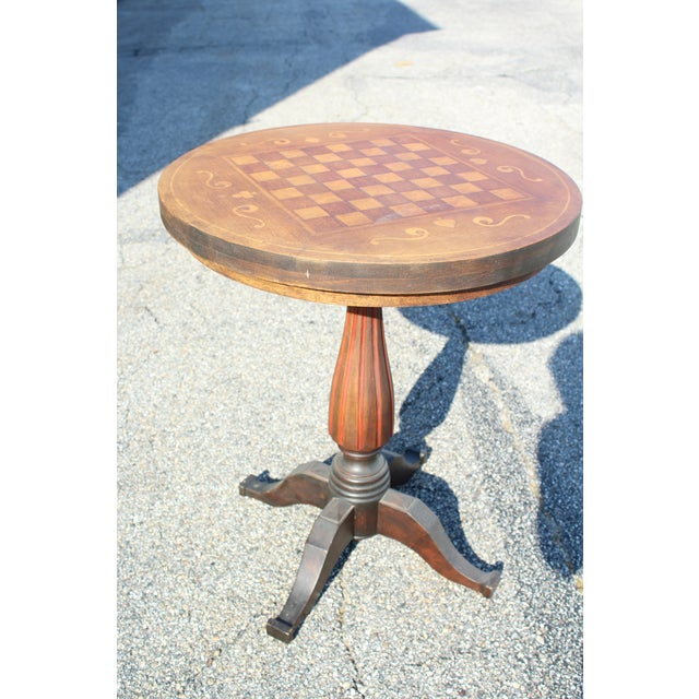 1900 - 1909 Inlaid Game Table For Sale - Image 5 of 7