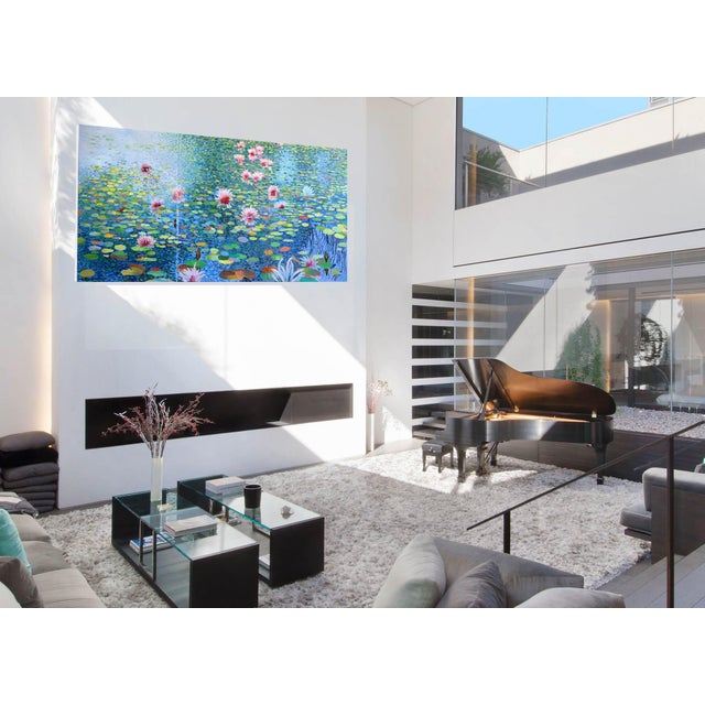 Contemporary Waterscape Triptych Painting - 3 Pieces For Sale - Image 4 of 9