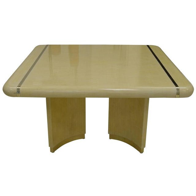 Enrique Garcel 1970s Mid-Century Modern Enrique Garcel Off-White Bone Dining Table For Sale - Image 4 of 4