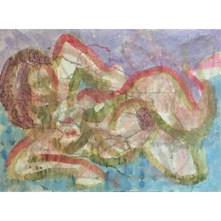 Beatnik Artist Figure Painting San Francisco For Sale