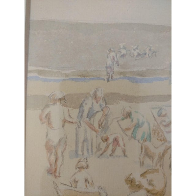 1920 French Nude Beach by Thérèse Lessore Paintings - a Pair For Sale - Image 10 of 13