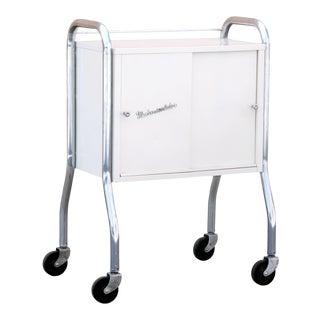 1950s Medcosonlator Rolling Medical Cabinet Cart For Sale