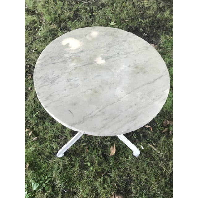 1900s French Marble Top Bistro Table For Sale - Image 4 of 5