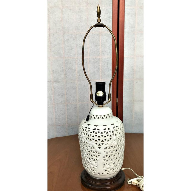 Blanc de chine Table Lamp JAPAN For Sale - Image 4 of 4