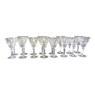 Waterford Cut Crystal Maeve Goblet & White Wine Glasses-8 of Each