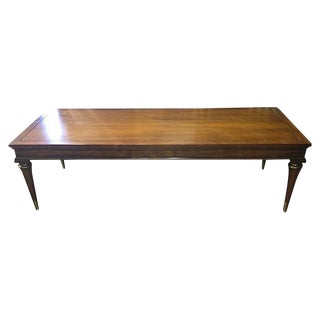Coffee Table with Brass Banding