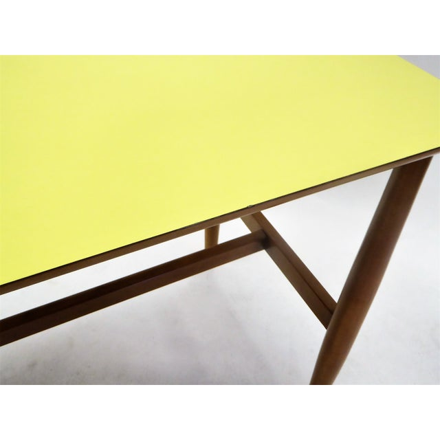 Green 1950s Mid-Century Modern Blond Elm Writing Desk by Milo Baughman for Drexel For Sale - Image 8 of 13
