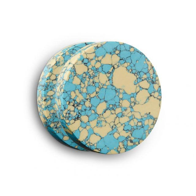 Stone Tom Dixon Blue and Cream Swirl Dumbbell Hook For Sale - Image 7 of 7