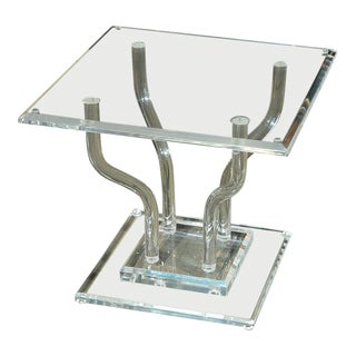 Lucite Occasional Table For Sale
