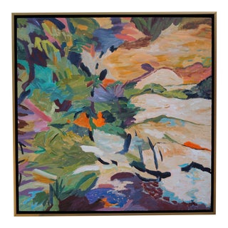 "Abstract Laurie MacMillan Painting, ""Bora Bora Beach Day"" For Sale"