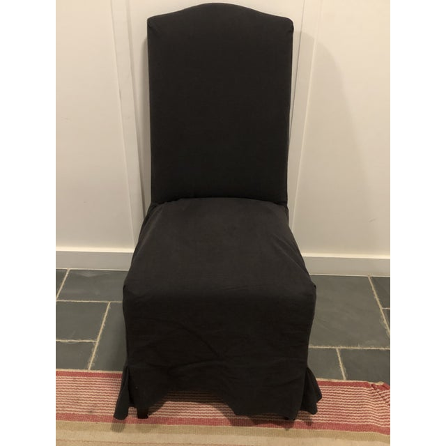 Gold Mitchell Gold / Bob Williams Microsuede Parsons Dining Chair For Sale - Image 8 of 10