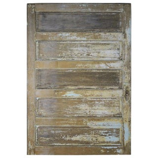 19th Century French Painted Barn Door For Sale