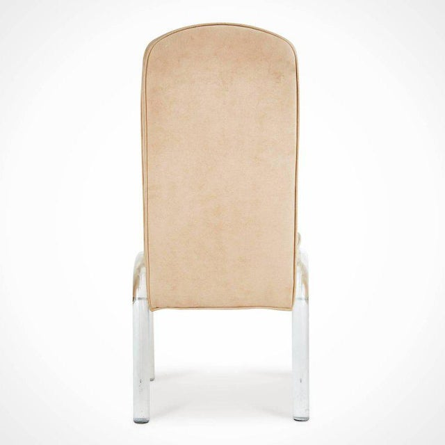 Lucite and Alcantara Dining Chairs, Circa 1970 - Set of 4 For Sale In Los Angeles - Image 6 of 8