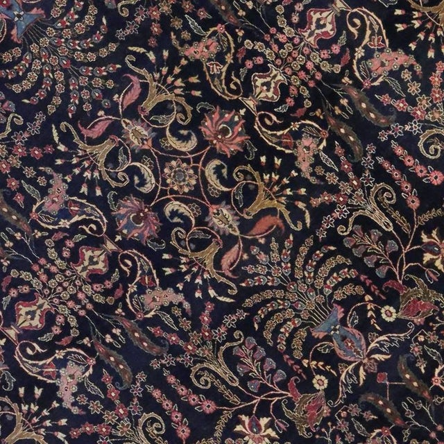 Antique Persian Mashad Rug with Traditional Modern Style For Sale - Image 5 of 9
