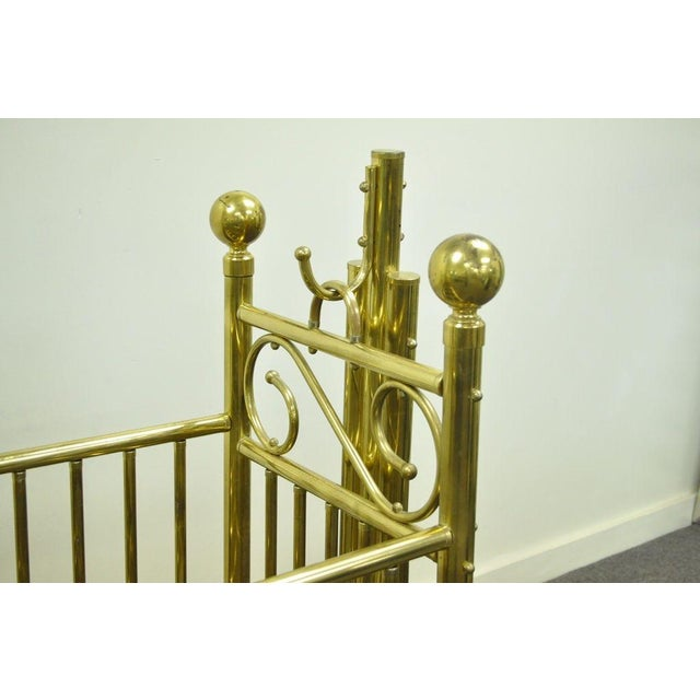 Mid 20th Century Vintage Victorian Brass Infant Cradle For Sale - Image 5 of 13