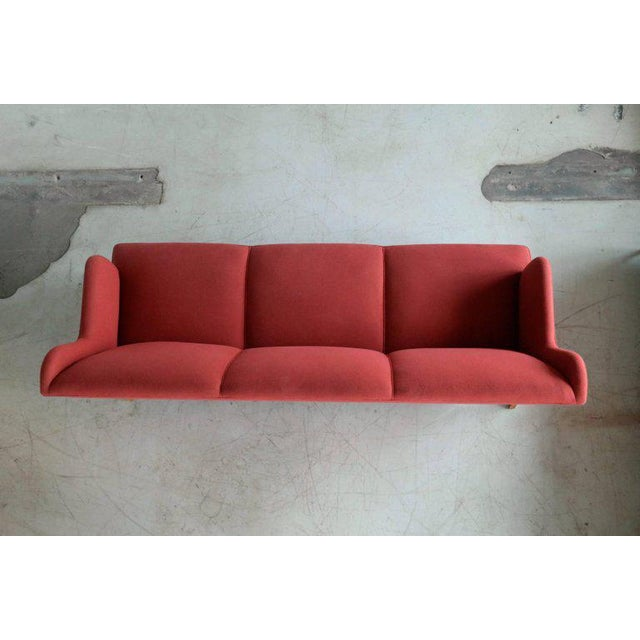 1950s Kaare Klint Style Classic 1950 Danish Three-Seat Sofa by Master Frits Henningsen For Sale - Image 5 of 8