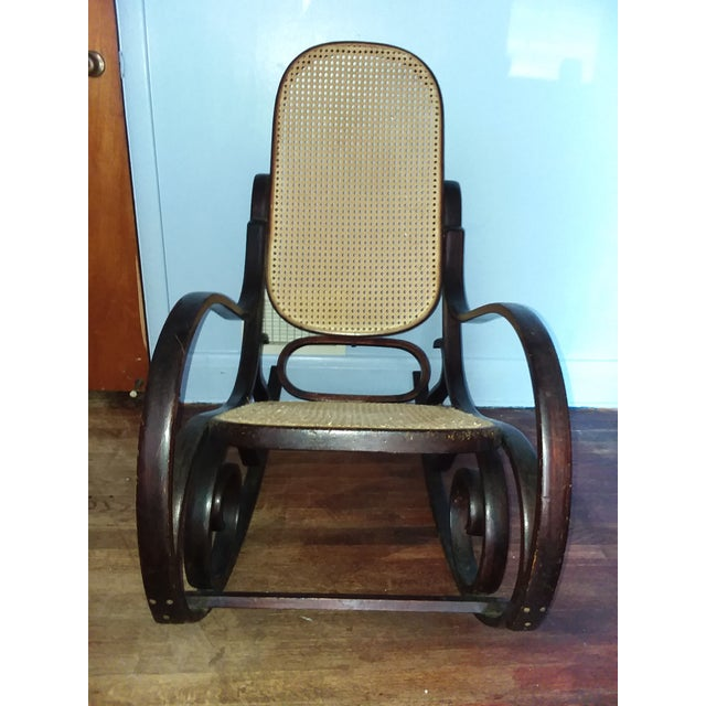 Thonet-Style Rocking Chair For Sale - Image 4 of 5