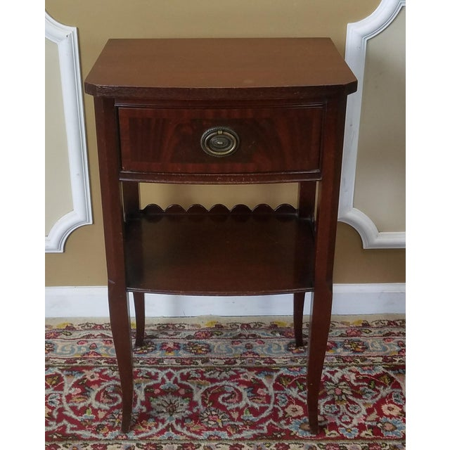 Rway Northern Furniture Co Mahogany Sheraton Style Bedroom Nightstand - Image 3 of 8
