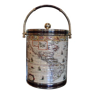 Mid-Century Map Ice Bucket