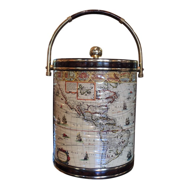 Mid-Century Map Ice Bucket - Image 1 of 11
