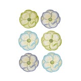 Image of Moda Domus x Chairish Exclusive Dessert Plates in Blue, Purple, and Green - Set of 6 For Sale