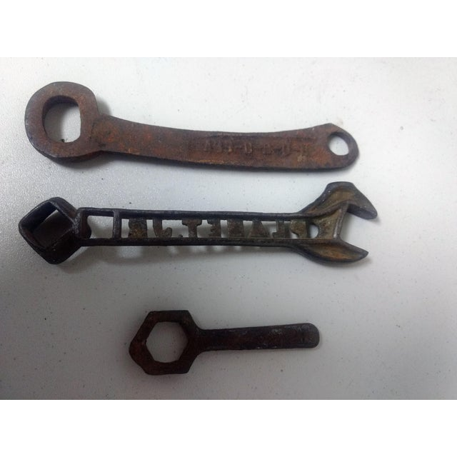 Country Antique Rustic Wrenches - Set of 3 For Sale - Image 3 of 4