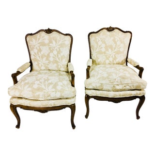 Mid Century Meijer Gunther Martini French Country Style Chairs - a Pair For Sale