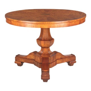 French Charles X Period Ashwood Pedestal Table, Early 1800s