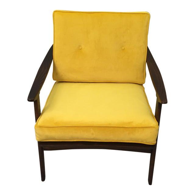 Mid-Century Modern Restored Arm Chair Velvet Cushions - Image 1 of 11