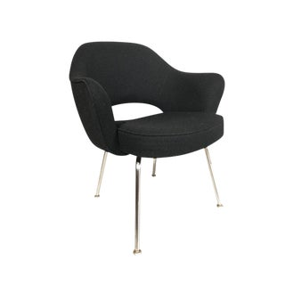 Knoll Eero Saarinen Executive Armchairs in Knoll Black Upholstery For Sale