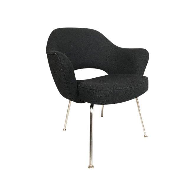 Knoll Eero Saarinen Executive Armchairs in Knoll Black Upholstery For Sale