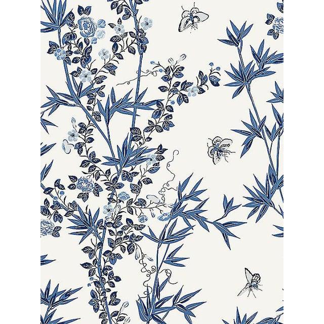 Sample, Scalamandre Jardin De Chine, Porcelain Wallpaper For Sale
