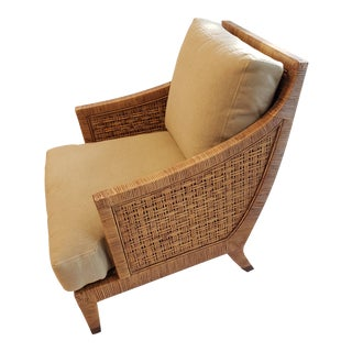 McGuire's St. Germain Lounge Chair in Cognac Finish For Sale