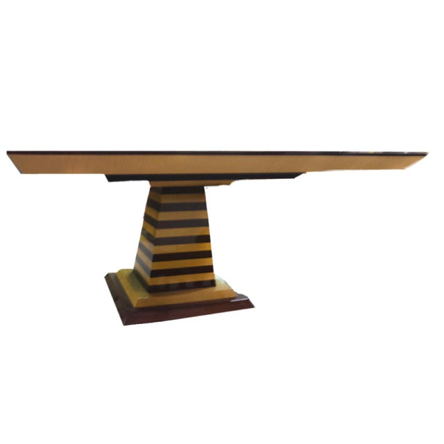 1980s Mid-Century Modern Brueton Industries Sycamore Square Egypt Table Dining Table For Sale In New York - Image 6 of 7