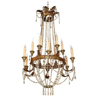 Italian Chandelier From Lucca For Sale