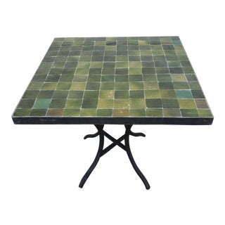 Moroccan Sq. Tamegrout Mosaic Side Table For Sale