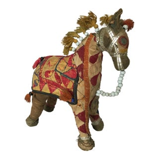 Antique Indian Patchwork Horse For Sale