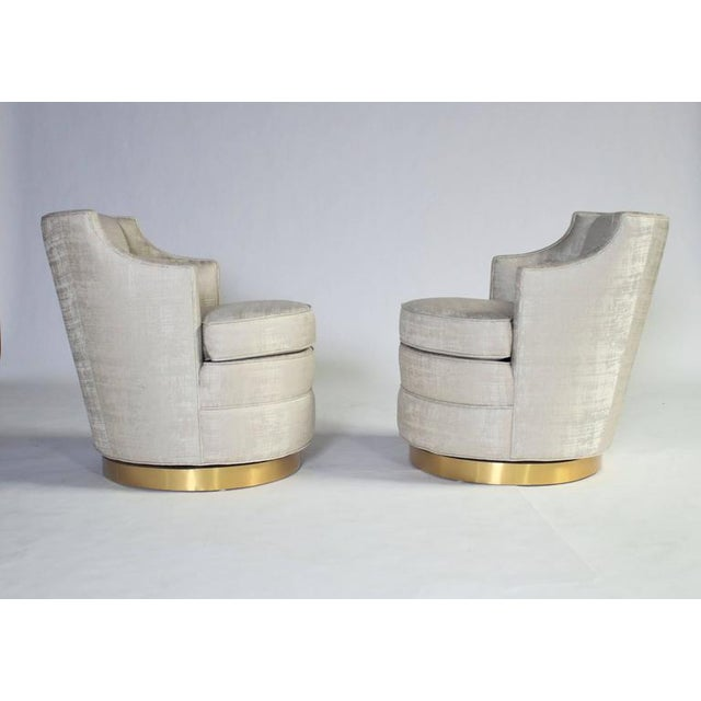 Dunbar Furniture Edward Wormley for Dunbar Swivel Chairs For Sale - Image 4 of 7