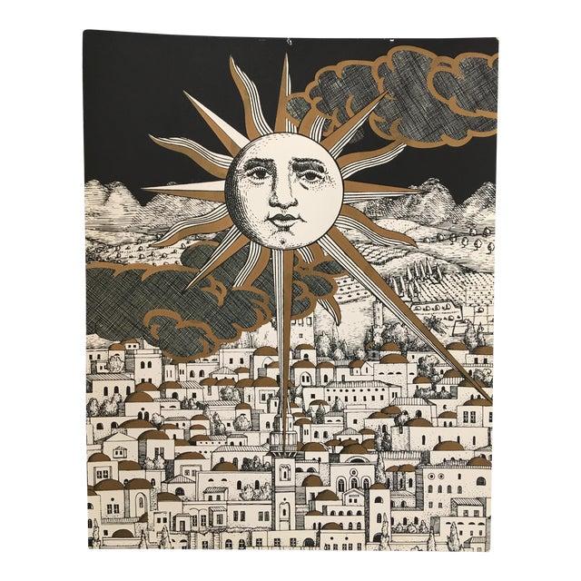 "Piero Fornasetti ""Sole a Gerusalemme"" Silkscreen Print For Sale"