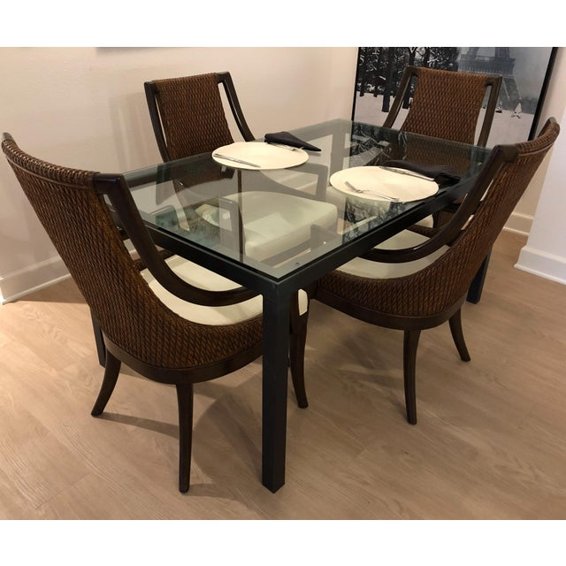 Modern Dining Arm Chairs - A Set of 4 For Sale In Los Angeles - Image 6 of 8