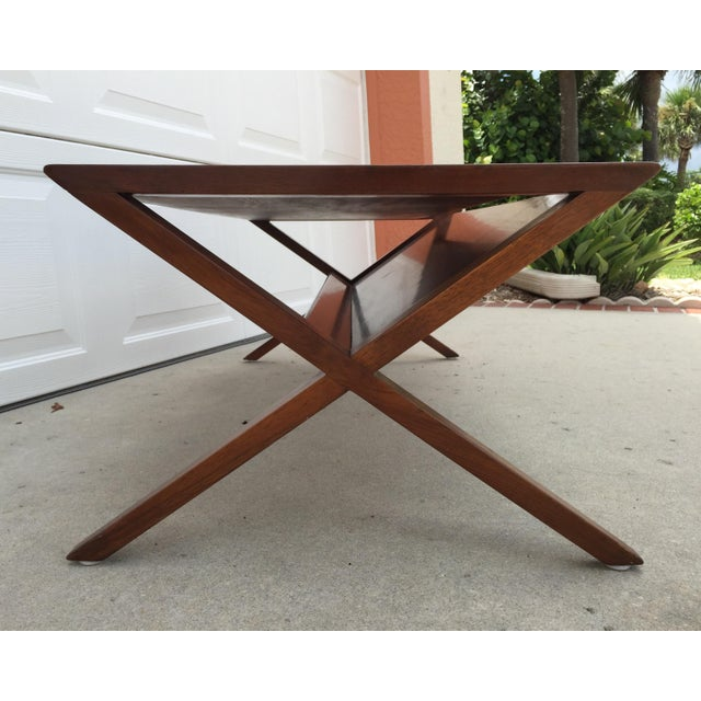 John Van Koert Walnut Coffee Table - Image 7 of 11