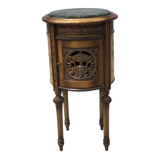 1920s French Provincial Hand Carved Wooden Side Table For Sale