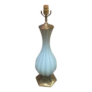 1950s Vintage Murano Blue Lamp For Sale