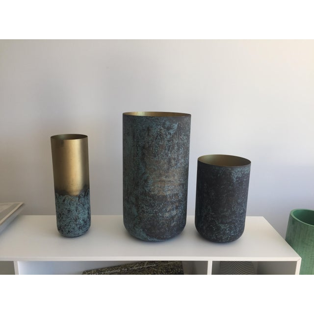 BoConcept New Oxidized Vases - Metal For Sale - Image 4 of 7