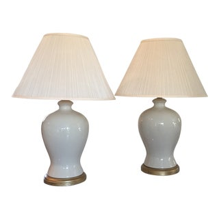 Cream Ralph Lauren Ginger Lamps For Sale