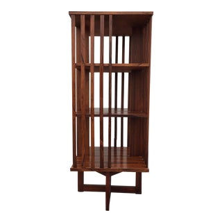 Modern Rosewood Revolving Bookcase For Sale