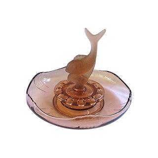 1920s Glass Flower Holder & Bowl
