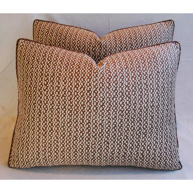 Italian Mariano Fortuny Tapa Feather & Down Pillows - A Pair - Image 6 of 10