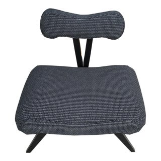 Vintage Mid-Century Slipper Chair For Sale