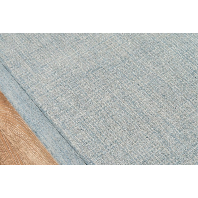 Contemporary Contemporary Momeni Delhi Hand Tufted Blue Wool Area Rug - 8' X 10' For Sale - Image 3 of 6